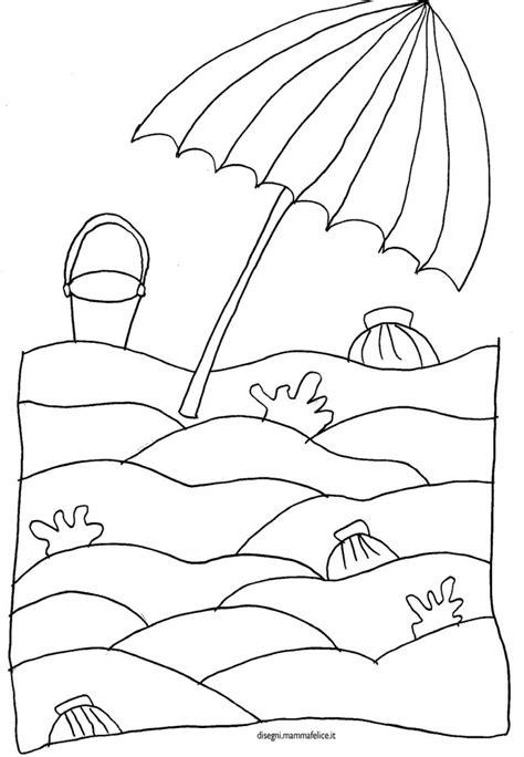 disegni da colorare mare per bambini disegno da colorare spiaggia e ombrellone disegni