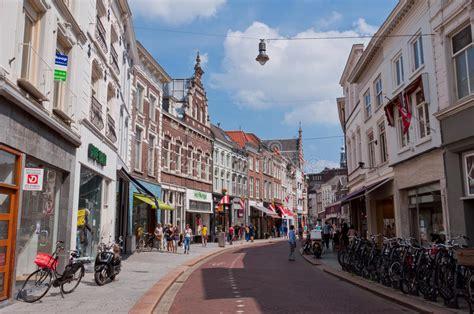 typische nederlandse architectuur den bosch stadscentrum redactionele stock