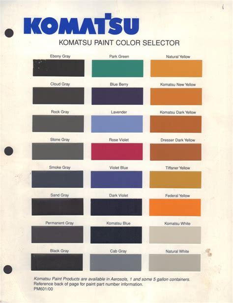 paint chips 2000 komatsu