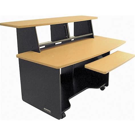 Omnirax Presto 4 Studio Desk Mahogany by Omnirax Presto Studio Desk Mahogany Musician S Friend