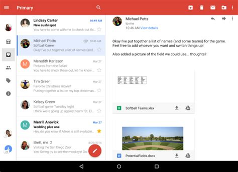gmail app for android gmail for android gets a unified inbox techcrunch