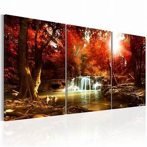 Bilder Natur Leinwand : leinwand bilder xxl kunstdruck bild natur wasserfall herbst c c 0061 b e ebay ~ Markanthonyermac.com Haus und Dekorationen