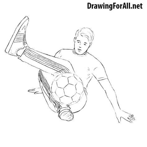 draw  freestyle football player drawingforallnet