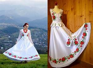 growing trend handpainted wedding dresses inspired by With polish wedding dress
