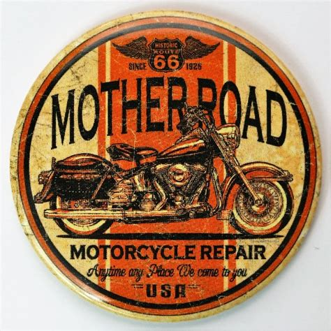 truck road motorcycle harley bike mother magnet route ford bar mustang metal thermometer wild