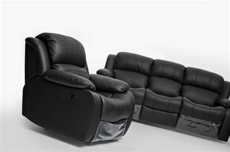 Kacey Black Leather Single Seater Chair Recliner Couch