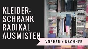 Ausmisten Vorher Nachher : kleiderschrank radikal ausmisten vorher nachher youtube ~ Eleganceandgraceweddings.com Haus und Dekorationen