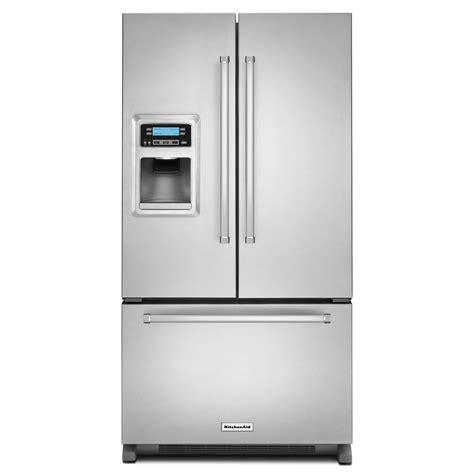 refrigerator counter depth kitchenaid krfc400ess 20 cu ft counter depth door