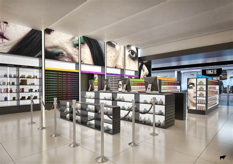 High-end and modern cosmetic shop design cosmetic store