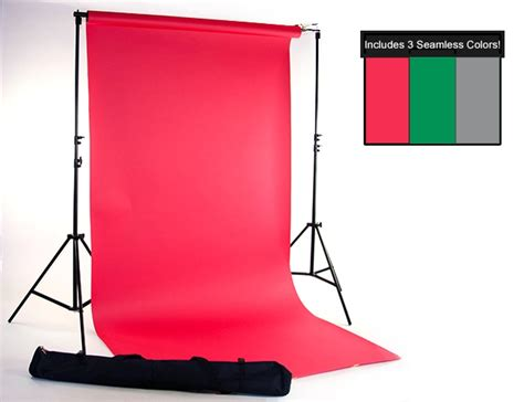 red green gray seamless paper kit backdrop express
