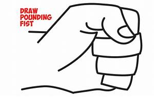 how to draw fists side view clenched drawing cartoon With simple power down