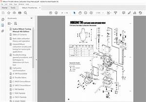 Mikuni Throttle Valves Carburetor Service Repair Manual