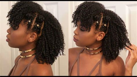 Braided Bantu Knot Mohawk Style On Natural Hair Ft. Jane