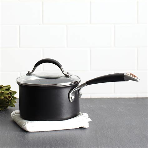 anolon infused copper  quart covered saucepan black bloomingdales