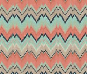 coral mint and navy ikat chevron fabric With ikat fabric coral