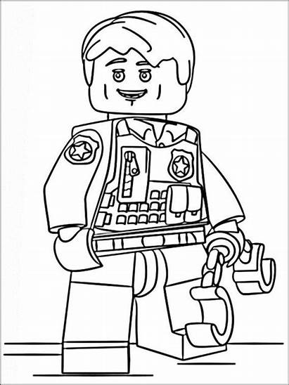 Coloring Lego Pages Police Da Chase Mccain
