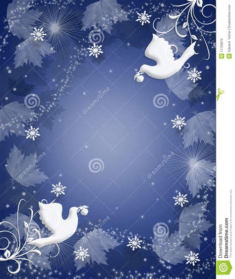 christmas background peace doves sparkle stock