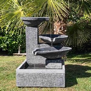 Fontaine De Jardin Jardiland : fontaine de jardin fontaine d bordement 3 vasques ~ Melissatoandfro.com Idées de Décoration