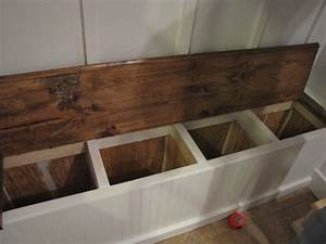Built In Storage Bench Plans PDF Woodworking