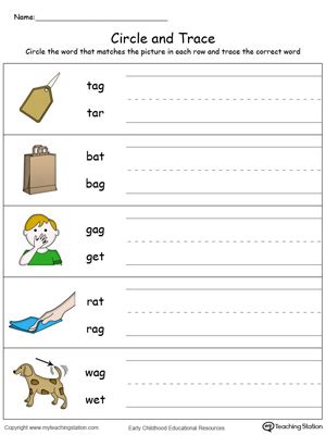 ag word family match letter and write the word ag kindergarten worksheets ag best free printable worksheets 28059