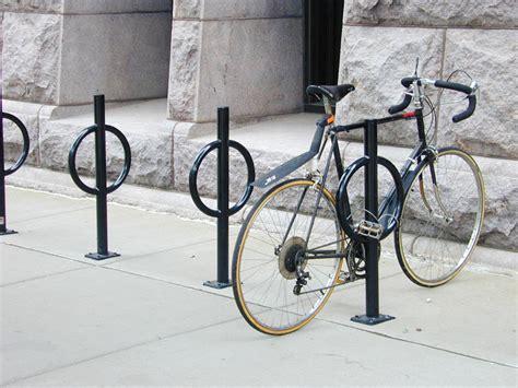 dero bike racks dero bike hitch post and ring style bicycle rack
