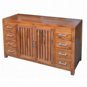 meuble en teck salle de bain django natural de qualite With meuble salle de bain imitation teck