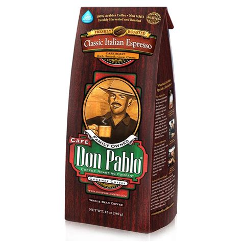 At don pablo coffee, we believe that a cup of coffee is never just a cup of coffee. Don Pablo Classic Italian Espresso Dark Roast Whole Bean ...