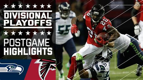 seahawks  falcons nfl divisional game highlights