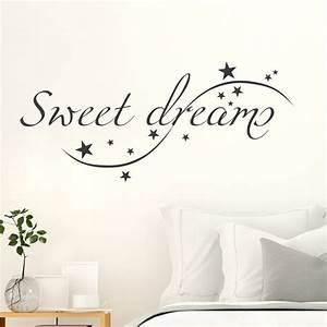 Wandtattoo Sweet Dreams : wandtattoo spruch sweet dreams ~ Whattoseeinmadrid.com Haus und Dekorationen