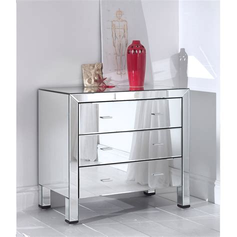 desk with drawers and mirror romano mirrored chest 3 drawer french furniture from