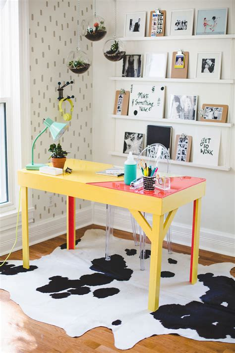 Designer Details Colorful Home by Diy Colorful Epoxy Topped Desk Home Organization 4