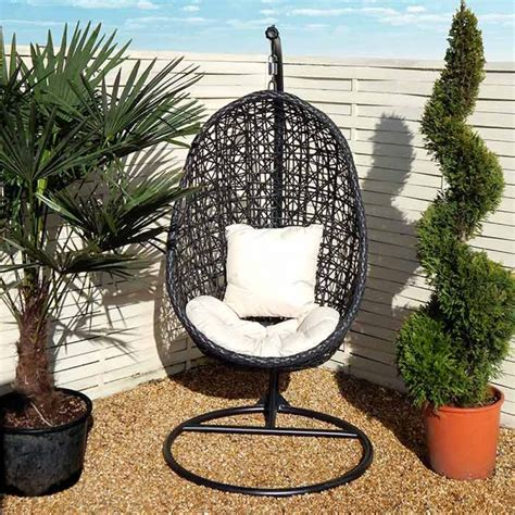 hanging chair for garden hanging garden egg chair a stylish garden hanging swinging wicker egg chair with modern
