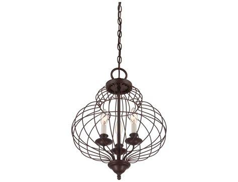 Quoizel Laila Rustic Antique Bronze Three-light 15'' Wide