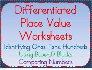 place  worksheetsunderstanding  tens hundreds