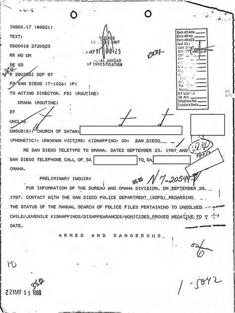 For more information, see the following section, supported file types for classification and protection. Church of Satan - FBI File - FOIA   Federal Bureau Of ...