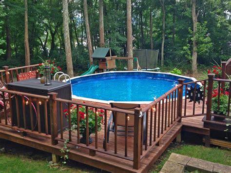 pool deck ideas partial deck  pool factory