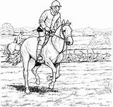 Horse Coloring Pages Horses Colouring Riding Printable Riders Rider Racing Adults Horseback Colour Competition Jumping Adult Equestrian Equestrians Draw Ready sketch template
