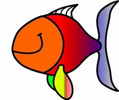 Fish Bubble Clip Clipart Clown Outline Clker