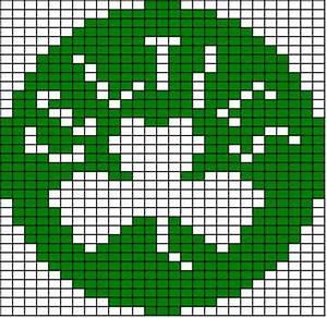 Reading Knitting Charts Chemknits Celtics Logo Knitting Chart
