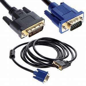 2m Dvi To Vga Cable Dual Link Dvi