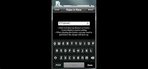 how to change carrier name on iphone without jailbreak how to change the carrier name on ipod touch iphone