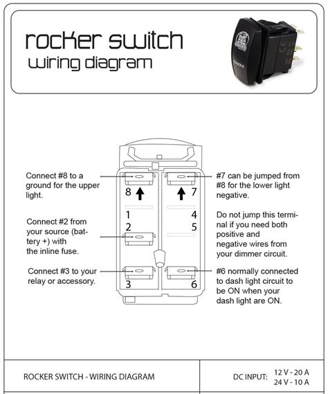8 Terminal Rocker Switch Wiring Diagram by Wiring 5 Pin Rocker Switch Page 3 Ford F150 Forum