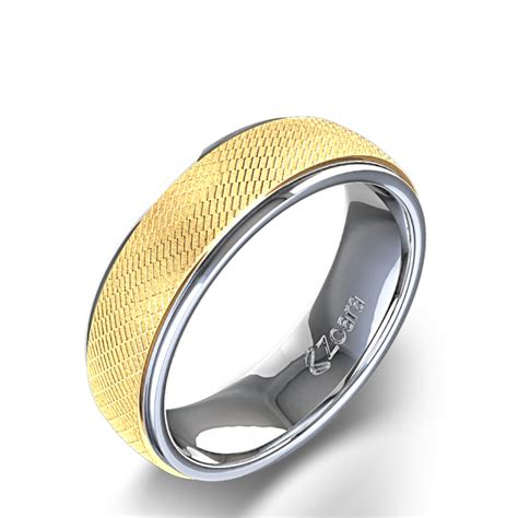 custom wedding bands for unique s wedding ring in 14k two tone gold