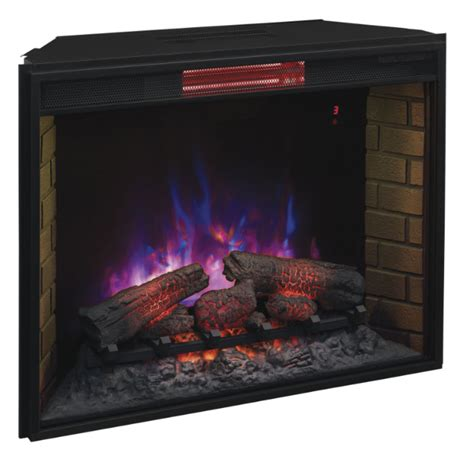 electric fireplace logs 33 classic infrared spectrafire fireplace
