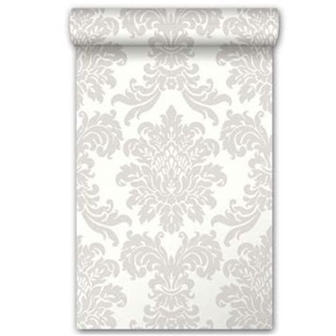 papier peint vinyle sur intissé médaillon gris
