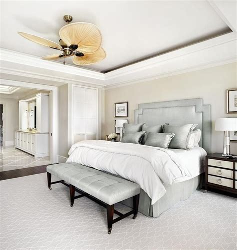 Gorgeous Gray And White Bedrooms by Gorgeous White And Gray Transitional Bedroom Boasts A