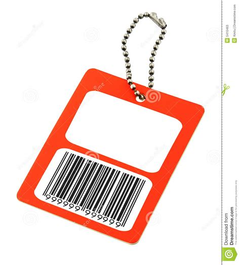 Blank Price Tag With Fake Bar Code Stock Photos - Image