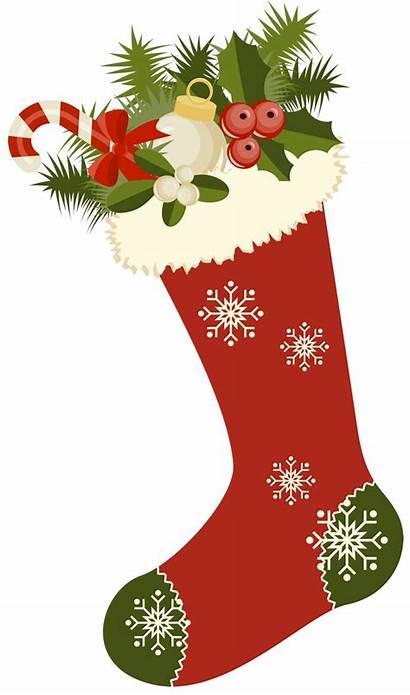 Christmas Stockings Retro Stocking Clipart Cards