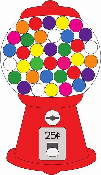 Gumball Machine Clipart Gum Bubble Candy Machines