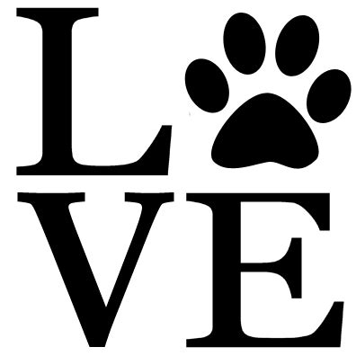 peace sign home paw print decal set of 2 canine